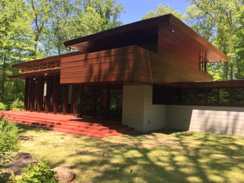 Frank Lloyd Wright, Bachman-Wilson house . At Crystal Bridges museum